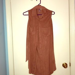 Pinkish brown dress with pockets